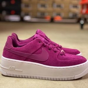 Nike Air Force 1 AF1 Sage Womens Shoes Berry Sz 5